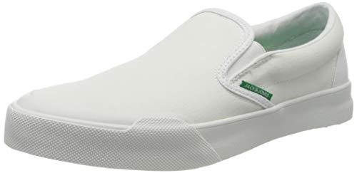 JACK & JONES Herren Jfworson Canvas Slip Sneaker, Weiß (Bright White), 46 EU