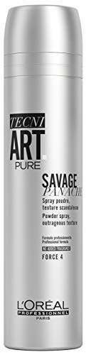 L'Oréal Professionnel TecniART Savage Panache, Powder spray, outrageous texture, texturierendes Puderspray, Haltegrad 4, 250 ml