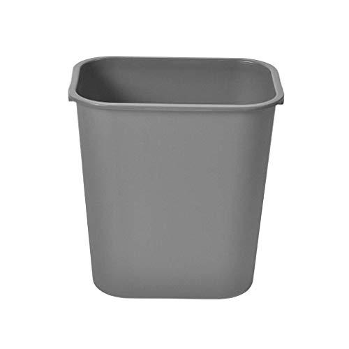 LZZB Bote de Basura Combo Set Papelera de Reciclaje de residuos Resistente a la presión Bote de Basura de Cocina de plástico ignífugo Espesamiento Bote de Basura Comercial Grande y Descubierto (T