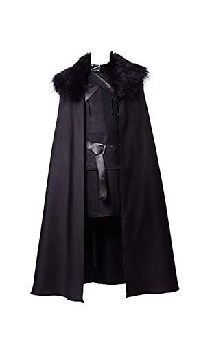 Jon Snow - Disfraz de noche para cosplay, color negro