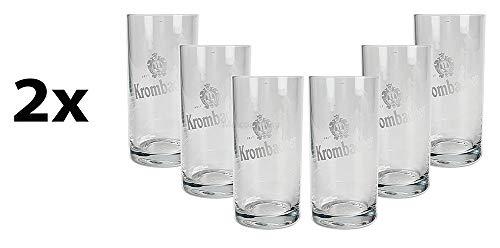 Mixcompany Krombacher Bierglas - 12x Glas/Gläser Set - 12er Set Biergläser 0,1L / 100 ml