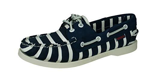 Sebago Spinnaker Stripe Women, Blau - Navy White - Größe: 40.5 EU