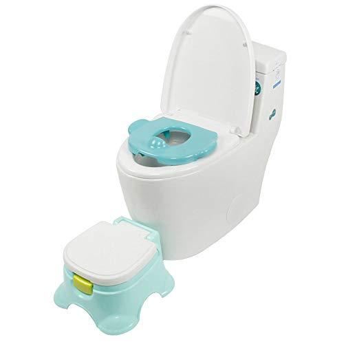 LXUA Toilettensitz für Kinder 3 In 1 Kleinkinder Töpfchen Sitz Kinder Abnehmbarer Toilettenstuhl Mit Schublade rutschfeste Füße Lenkrad & Horn Baby Trainingshocker 0-8 Jahre Alt Töpfchen