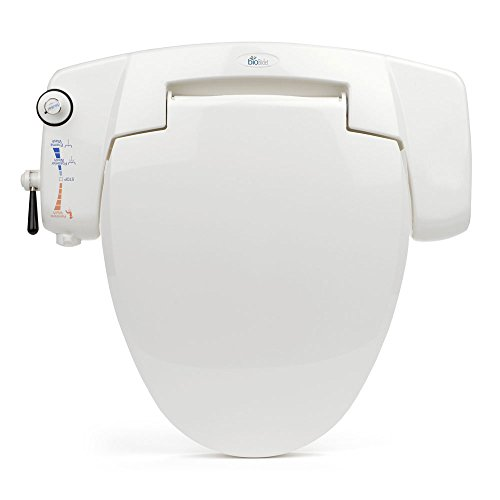 BB-I3000 BioBidet Premium Non-electric Bidet Seat for Elongated Toilets, White