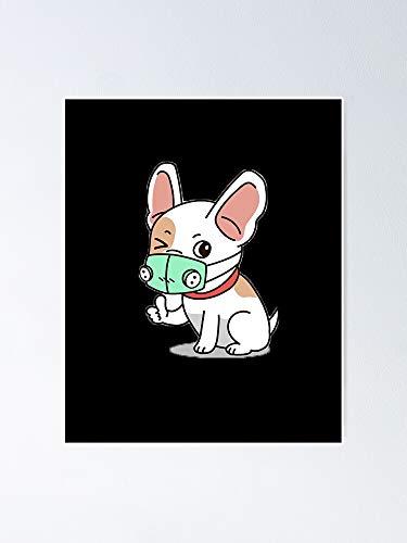 AZSTEEL - Pster de cara con mscara respiradora, diseo de perro con texto en ingls 'sin marco para decoracin de oficina, el mejor regalo de familia y amigos de 35 x 40 cm