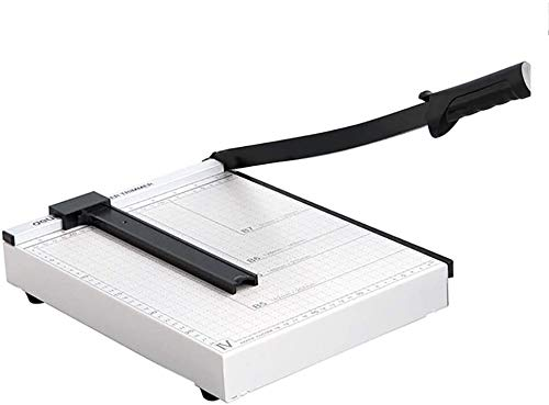 Cortador de Papel Cortador de Papel, A4 portátil Ligero guillotinas, 12' Metal Base de Papel Cortador de Guillotina (Color : White)
