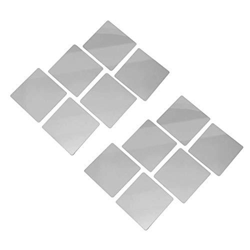 SCOC Pegatinas de pared para espejo de 16 piezas de baño, autoadhesivas, para decoración del hogar