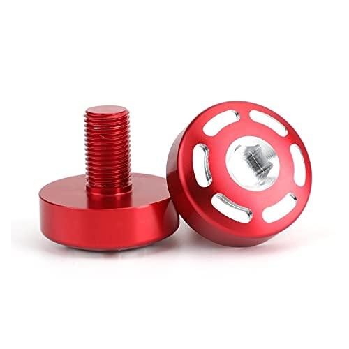 XINXIN xin-xin Par CNC Cap de Enchufe del Marco de ALU Fit para Ducati 795 796 797 Scrambler 400 800 1100 Hypermotard 821 939 Accesorios (Color : Red)