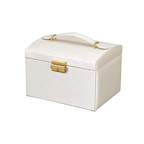 pojhf GYDSSH Caja de joyería, diseño Exquisito, Bien organizado, con Mango, fácil de Llevar, Que se Utiliza for Guardar Joyas