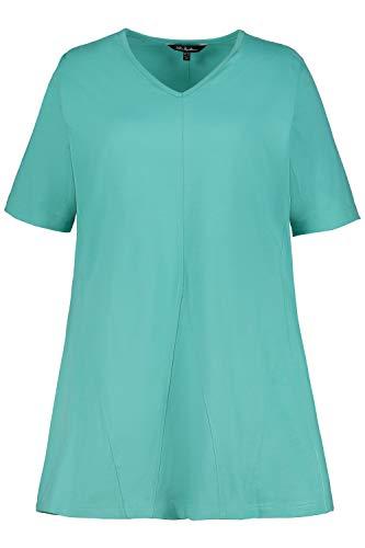 Price comparison product image Ulla Popken Women's Plus Size Godet Inset Swing Knit Tunic Mint 36 / 38 719999 47