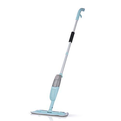 CLEANmaxx Spray-Mopp Bodenwischer | Wischmopp mit integrierter Sprühfunktion, Nass -und Trockenreinigung | Abnehmbarer Wassertank [350ml, inkl. 1 Mikrofasertuch und 10 Staubtücher]