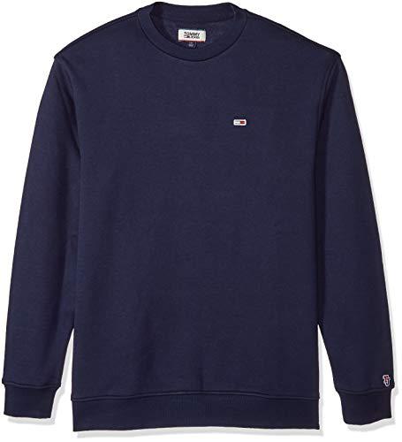 Tommy Jeans Herren TJM TOMMY CLASSICS CREW Pullover, Blau (Black Iris 002), Large (Herstellergröße:L)