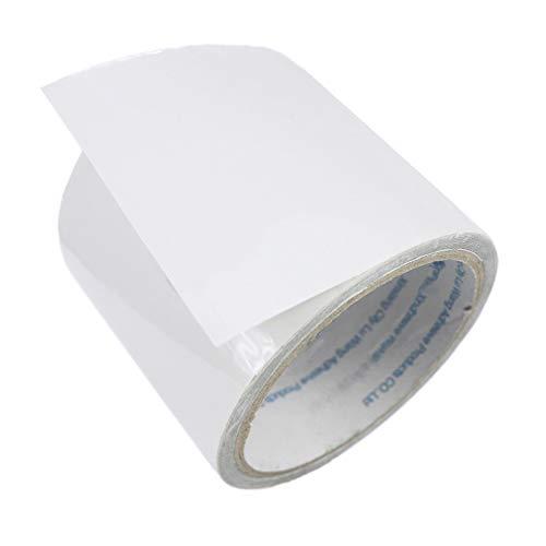LANUCN Nastro di Riparazione per tendone 5 m, Nastro Adesivo Trasparente Resistente per Tenda/Tenda da Sole/Gazebo Rivestiti in PVC (8cm x 5m)