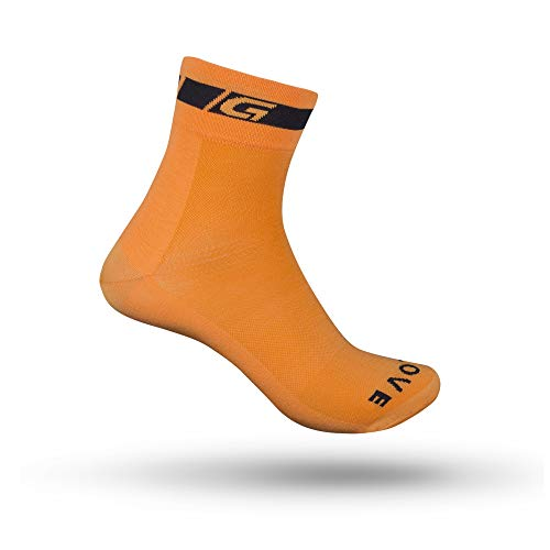GripGrab Unisex's Classic Regular Cut Summer Cycling Socks Lightweight Road Mountain Gravel Bike Indoor Spinning Bicycle, Orange, S (EU 38-41 // UK 5-7.5)