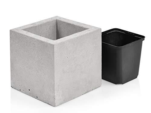 beske-manufaktur bloempot van beton | Maat 13x13x13 | 100% handwerk Made in Germany | Tijdloos, elegant en puristisch design |