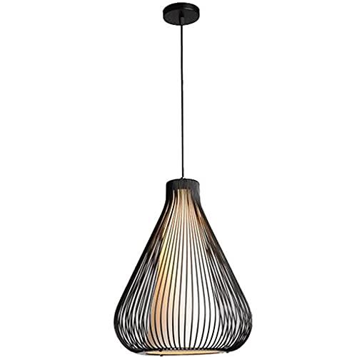 ZLMFK 1 Linterna de luz Lámpara Colgante Lámpara de Techo Industrial Retro Luz de Techo Pantalla de Tela Base E27 Luces de suspensión para Restaurante Dormitorio Cocina Luz