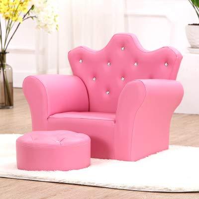 Htimer sillón Infantil Sofá para niños Linda niña Princesa bebé sofá Perezoso sofá de la Corona Asiento de Dibujos Animados sofá, Rosa