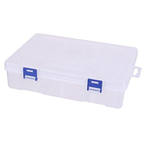 Caja Transparente Clara Con Separadores De La Parte Superior De Almacenamiento De Tapa De Manía / Manualidades / Bricolaje