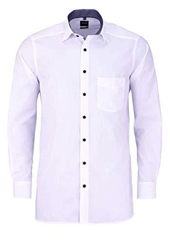 Olymp Luxor modern fit Hemd extra Langer Arm Kombimanschette weiß Größe 42
