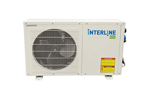 Interline 59695245 Wärmepumpe Eco, 4,5 KW, weiß für 30m³ Pools