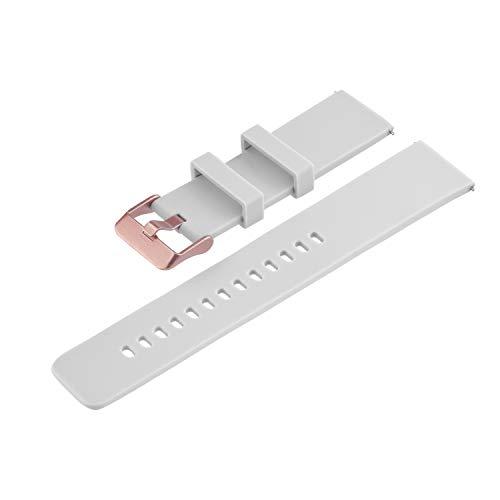 X-WATCH Wechselarmband 22mm Soft Grey Keto Sun Reflect 540461