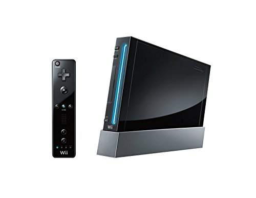 Nintendo Wii Console (Black) with Wii Sports + Wii Sports Resort and Motion Plus Controller (Wii) [import anglais]