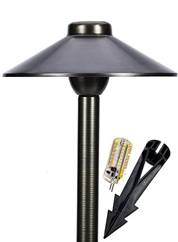 MIK Solutions - Luz LED para caminos de 125, 12 V, latón macizo, bajo voltaje, para exteriores, seta, jardín, patio, piscina, para una hermosa luz brillante de larga duración (sin bombilla)