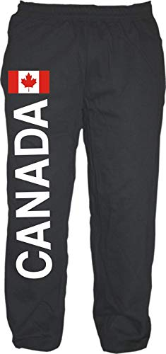 HB_Druck Canada Jogginghose - Sweatpants - Jogger - Hose L Schwarz