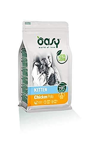 OASY Alimento seco al pollo para gatitas, 1,5 kg - Comidas secas para gatitas