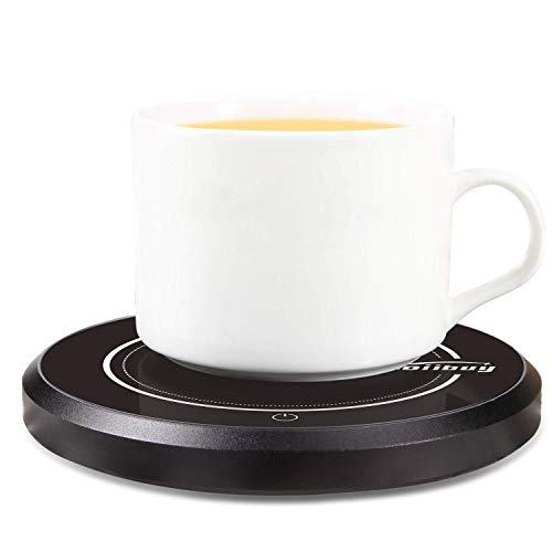 Mug Warmer 110V 15W Electric Beverage Warmer Coffee Cup Warmer Plate Up to 60℃ for Tea,Water,Cocoa,Soup or Milk, 8 Hour Auto Shut Off