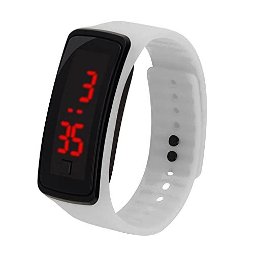 CarJTY Deportes Reloj LED con Correa de Silicona Reloj Digital de Pulsera con Pantalla Electrónica de 12 Horas para Niños , artículos de Regalo para niños, cumpleaños, Fiesta