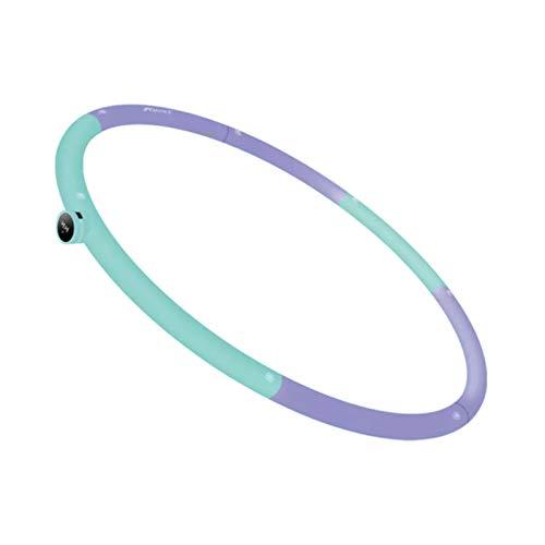WUBAILI Hula Hoops Inteligentes para Adultos Pérdida De Peso, Conteo Inteligente Reconocimiento Somatosensorial Conexión Bluetooth Diseño De Bucle Ajustable Extraíble,Púrpura