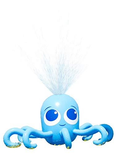 Playtastic Gartenspielzeug: Aufblasbarer Oktopus mit integriertem Wassersprinkler für Kinder (Wasserspielzeuge Pool)