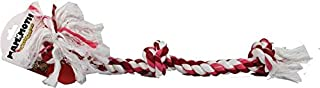 Flossy Chews Cottonblend Color 3-Knot Rope Tug, Large, 25-Inch, Assorted Colors