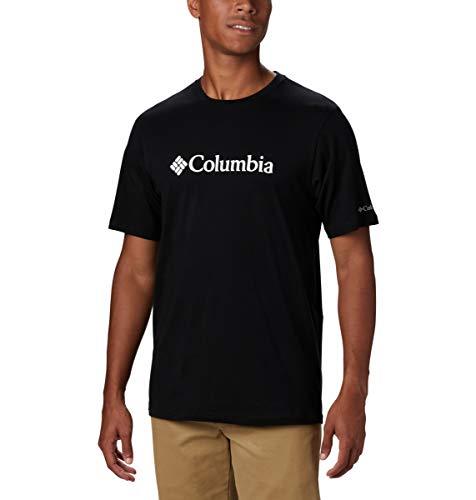 Columbia CSC Basic Logo Short Sleeve Shirt Camiseta de Manga Corta, Hombre, Negro (Black), S