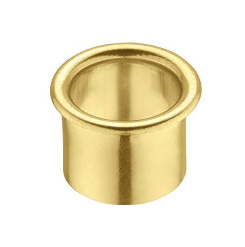 Gedotec Messing Lüftungsring rund Kabeldurchführung Schreibtisch - LION   Kabeldurchlass Messing poliert   Kabeldose Bohr-Ø 20 mm   Kabelführung zum Eindrücken   1 Stück - Ring-Durchlass für Möbel