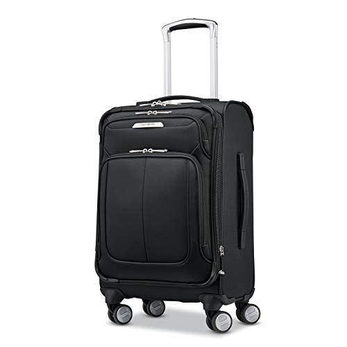 Samsonite Solyte DLX Softside Expandable Luggage with Spinner Wheels, Midnight Black, Carry-On 20-Inch