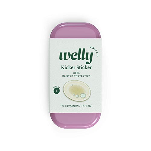 Welly Bandages - Kicker Sticker, Hydrocolloid, Adhesive, Heel Blister Protection, Clear - 8 ct