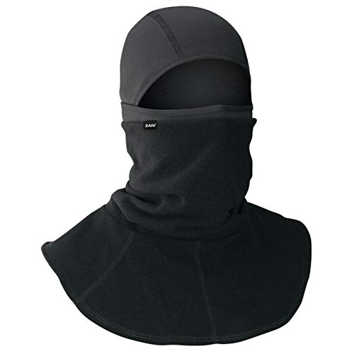 Zan Headgear Black Balaclava with Neck Gaiter for Extra Warmth to Neck and Face WB114C