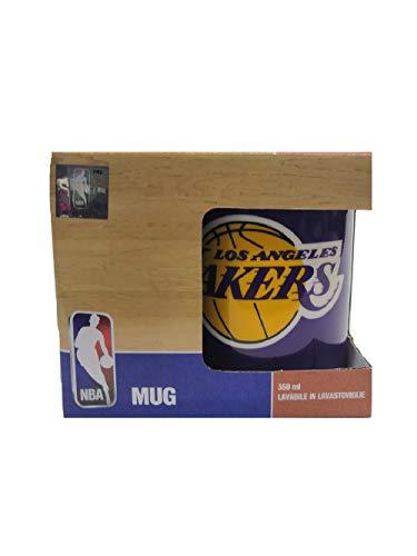 Franco Panini. Taza de desayuno NBA Los Angeles Lakers, 350 ml, de porcelana
