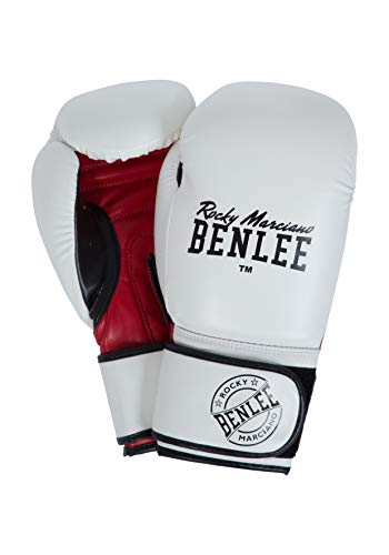 BENLEE Rocky Marciano Unisex Carlos Boxhandschuhe, White/Black/Red, 14 oz