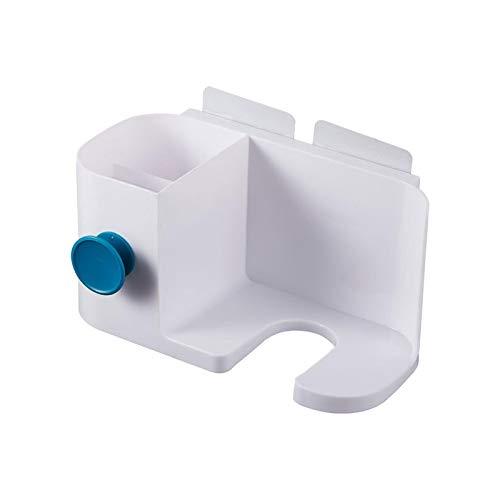 Geyan - Soporte para secador de pelo con 2 compartimentos sin perforación, impermeable, fuerte