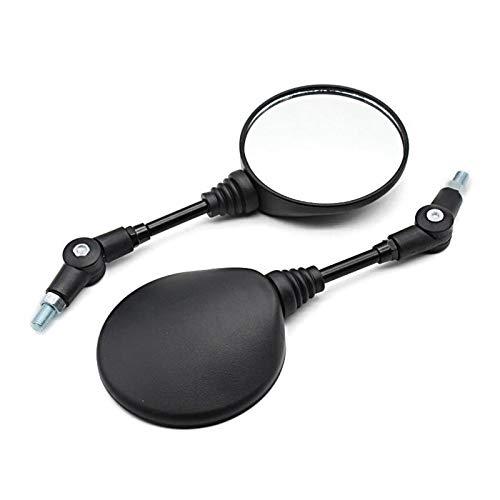 YYOMXXOM Un Solo parejo Universal Mirror Moto Retrovisor Retrovisor Anti-Otoño Plegable Revestimiento Redondo Motocicleta Espejo Lateral