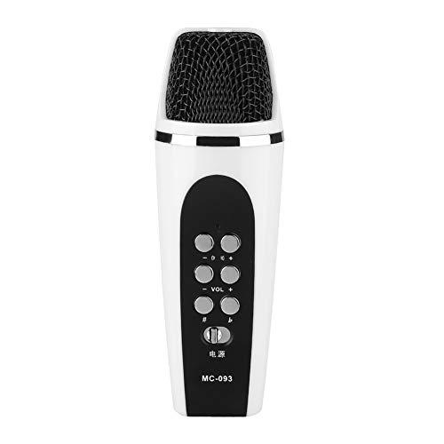 Mini Micrófono Cambiador de voz Portátil, mini Micrófono Cambiador de voz de 4 Modos Para PC con Teléfono Inteligente iOS / Android, para Auriculares con Conector de 3,5 mm, para Cantar, Grabar, etc.
