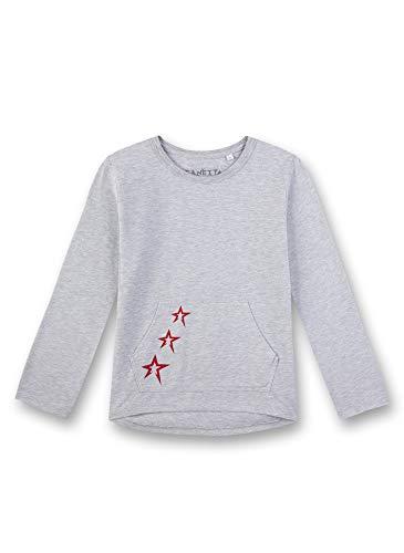 Sanetta Mädchen Shirt Schlafanzugoberteil, Grau (Hellgrau Melange 1646), (Herstellergröße: 140)