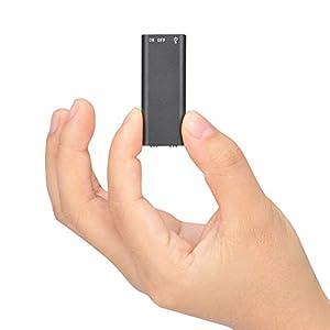 Mini Espía Grabadora de Voz,Lychee 8 GB Portatil Grabadora Activada por voz,12 Horas de Grabación Continua, 96 Horas de Capacidad, 192 KBPS, para Profesionales, Estudiantes, Recopilacion de pruebas