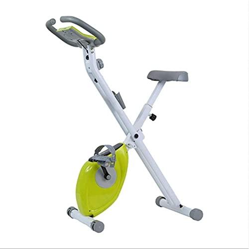 Bicicleta estática, bicicleta estática ultra silenciosa Bicicleta para el hogar con resistencia ajustable y plegable Bicicleta dinámica adecuada para ejercicio en interiores (deporte en interiores)