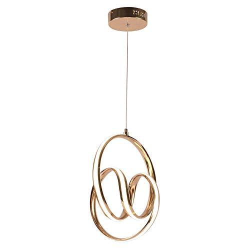 Lampada a sospensione a LED moderna, lampadario di alluminio regolabile lampadario di alluminio creativo ristorante a sospensione dorato luce, nordic personalità bar post moderno arte designer Ingegne