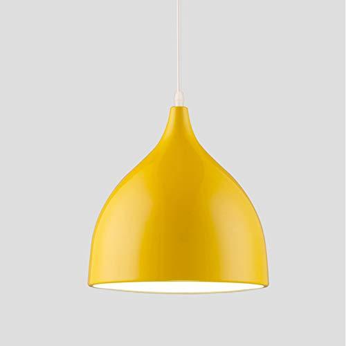 Lampadari nordico, lampadario moderni a soffitto in alluminio a LED per bambini lampada a sospensione a forma di cartone animato luce pendente (colore : Giallo)