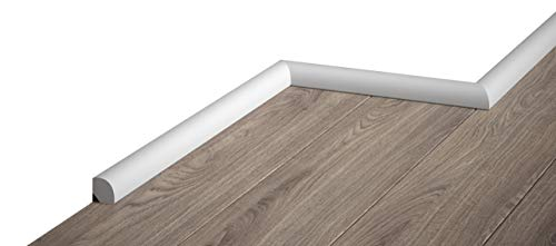 MARDOM DECOR Sockelleiste I MD235 I Viertelstab Fußbodenleiste I 200 cm x 1,9 cm x 1,9 cm